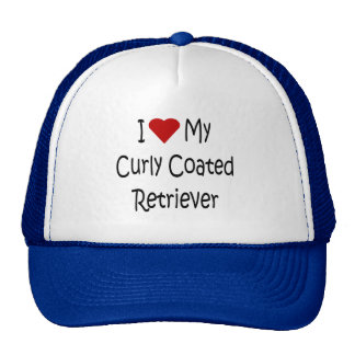 I Love My Curly Coated Retriever Dog Lover Gifts Cap