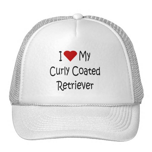 I Love My Curly Coated Retriever Dog Lover Gifts Hats