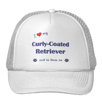 I Love My Curly-Coated Retriever Male Dog Mesh Hats