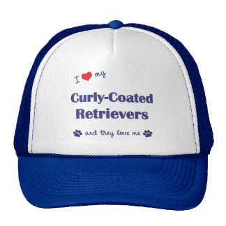 I Love My Curly-Coated Retrievers Multiple Dogs Trucker Hat