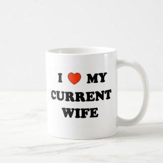 I Love My Current Wife Basic White Mug