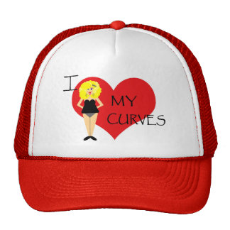 I Love My Curves Motivational Hat