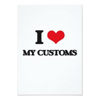 "I love My Customs 5"" X 7"" Invitation Card"