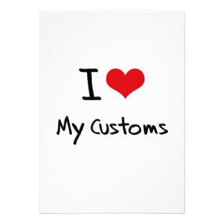 I love My Customs Invite