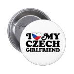 I Love My Czech Girlfriend 6 Cm Round Badge