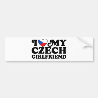 I Love My Czech Girlfriend Bumper Sticker