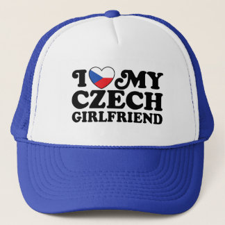 I Love My Czech Girlfriend Trucker Hat
