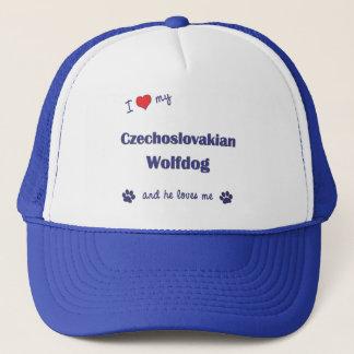 I Love My Czechoslovakian Wolfdog (Male Dog) Trucker Hat