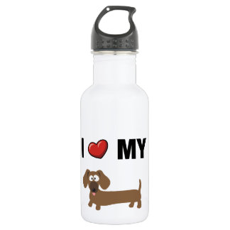 I love my dachshund 532 ml water bottle