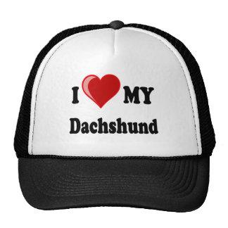 I Love My Dachshund Dog Gifts & Apparel Cap