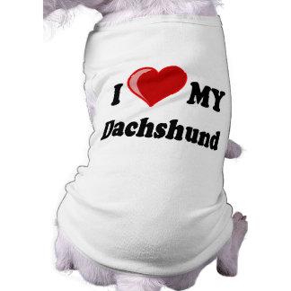 I Love My Dachshund Dog Gifts & Apparel Doggie Tee