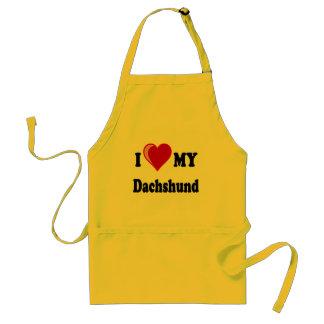 I Love My Dachshund Dog Gifts & Apparel Standard Apron