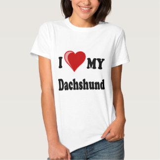 I Love My Dachshund Dog Gifts & Apparel Tees