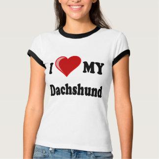 I Love My Dachshund Dog Gifts & Apparel Tshirts