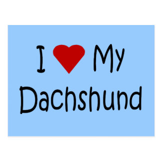 I Love My Dachshund Dog Lover Gifts and Apparel Postcard