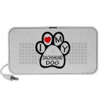 I Love My Dachshund Dog iPhone Speaker