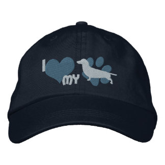 I Love my Dachshund Embroidered Hat