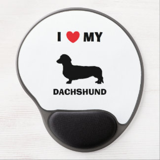 """I Love My Dachshund"" Gel Mousepad Gel Mouse Mat"