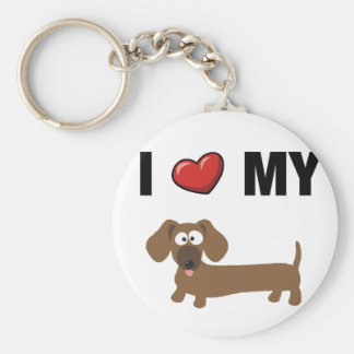 I love my dachshund key ring