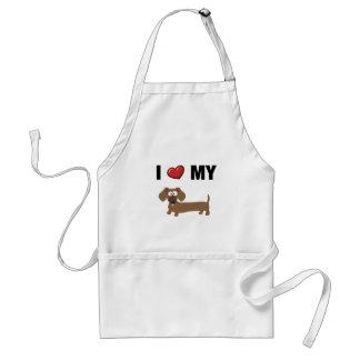 I love my dachshund standard apron