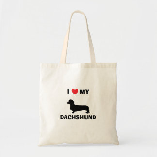 """I Love My Dachshund"" Tote Bag"