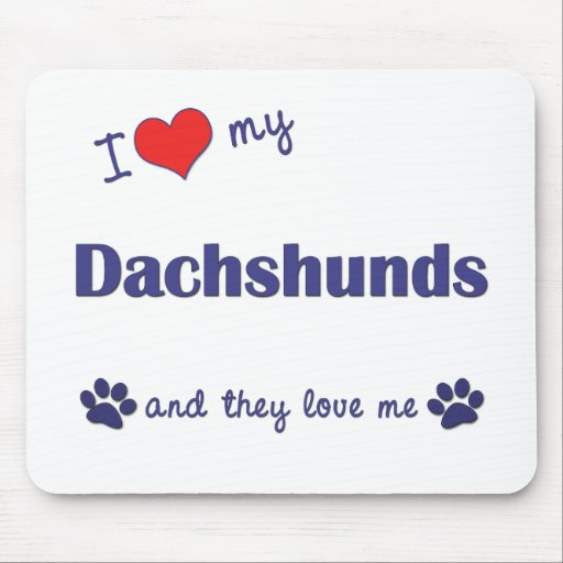 I Love My Dachshunds (Many Dogs) Mouse Mat