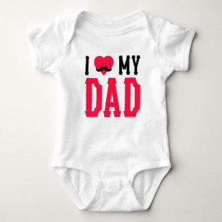 I Love My DAD Baby Bodysuit