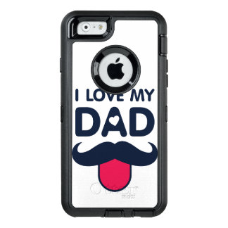 I love my dad cute mustache icon OtterBox defender iPhone case