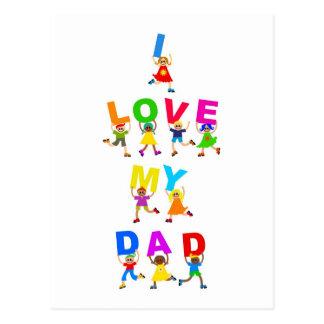 I Love My Dad Postcard