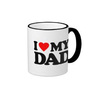 I LOVE MY DAD RINGER MUG