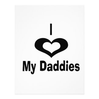 I love my daddies Daddy design with heart Flyers