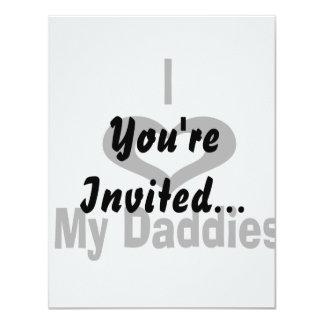 "I love my daddies Daddy design with heart 4.25"" X 5.5"" Invitation Card"