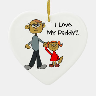 I Love My Daddy Christmas Heart Ornament