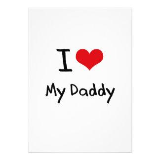 I Love My Daddy Custom Invite