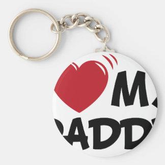 I love my daddy keychains