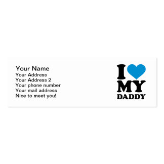 I love my daddy pack of skinny business cards