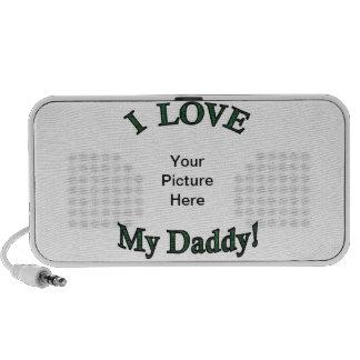 I Love My Daddy Template Doodle Mini Speaker