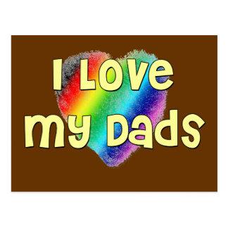 I Love My Dads Postcard