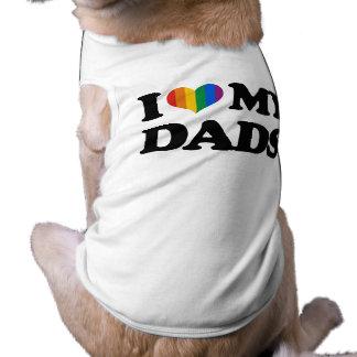 I love my dads sleeveless dog shirt