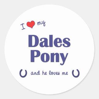 I Love My Dales Pony (Male Pony) Sticker
