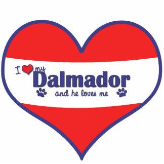 I Love My Dalmador (Male Dog) Photo Cut Out