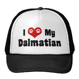 I Love My Dalmatian Trucker Hat