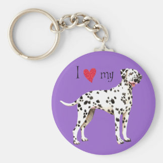I Love my Dalmatian Key Ring