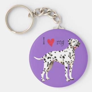 I Love my Dalmatian Keychains