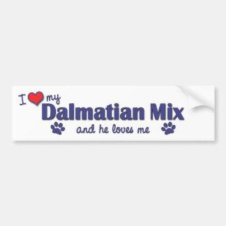 I Love My Dalmatian Mix (Male Dog) Bumper Sticker