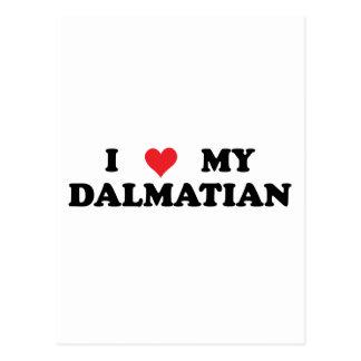 I Love My Dalmatian Postcard