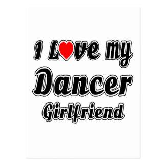 I Love My Dancer Girlfriend Postcard