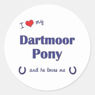 I Love My Dartmoor Pony (Male Pony) Sticker