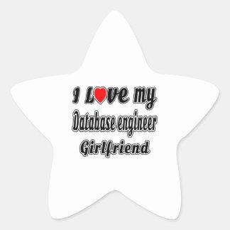 I Love My Database engineer Girlfriend Star Sticker