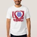 I Love My Daughter red heart - photo Tshirt